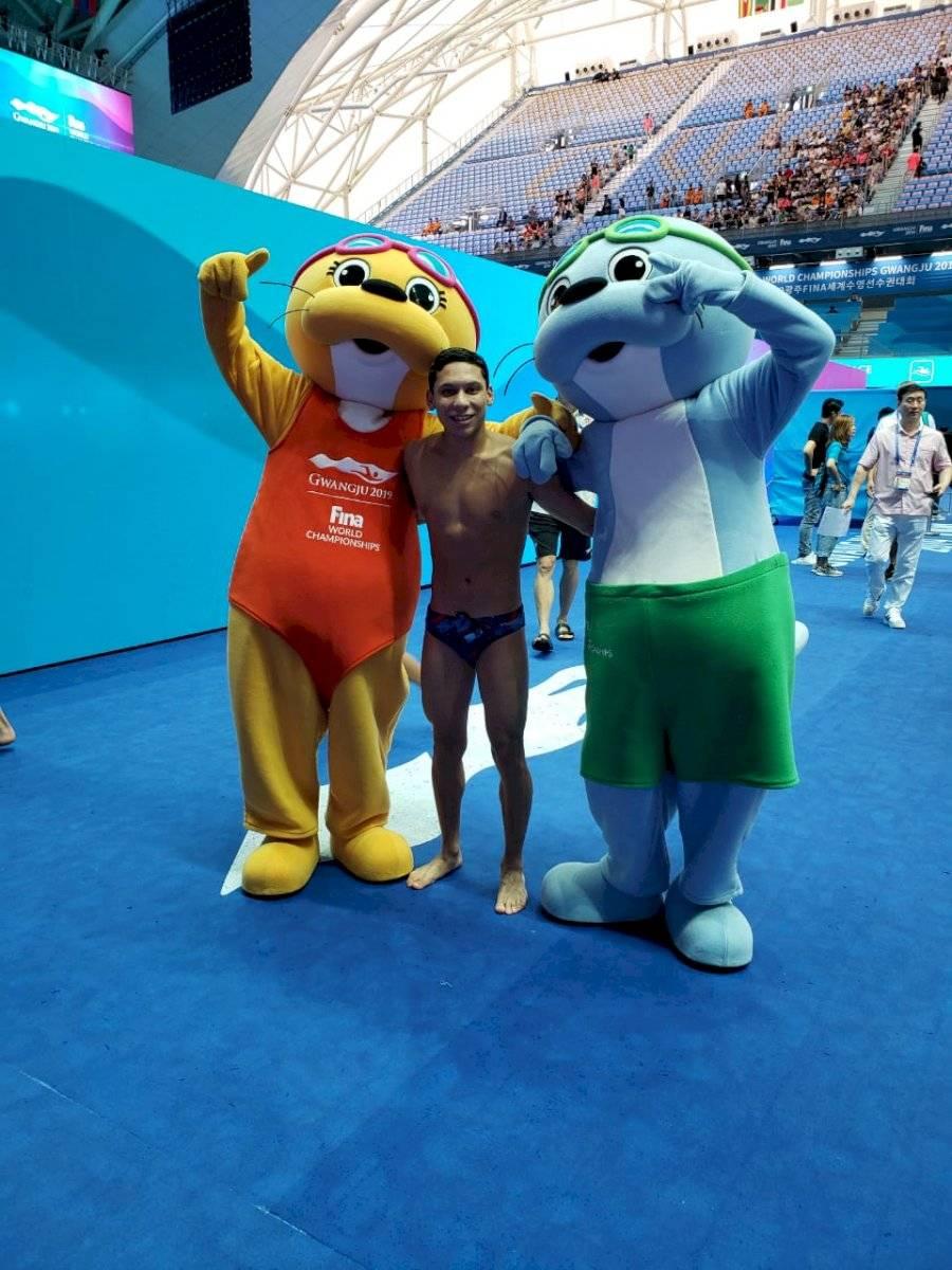 Foto Instagram | Fernando Ponce comentó que en el Mundial de Corea del Sur era uno de los nadadadores más bajos en estatura.