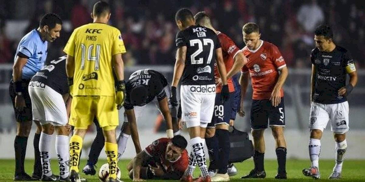 El Tucu Hernández se rompió el ligamento cruzado de una rodilla y estará varios meses sin jugar