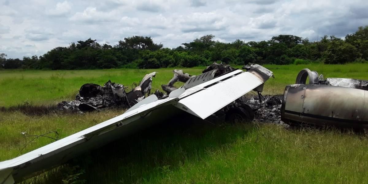 ¡Otra avioneta! Localizan aeronave incinerada en Retalhuleu