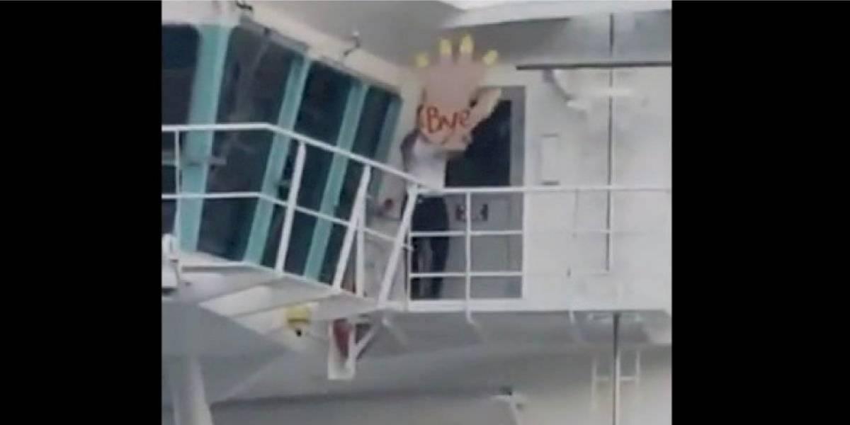 """Capitán de transatlántico """"troleó"""" a turistas que perdieron un viaje y se volvió viral en redes"""
