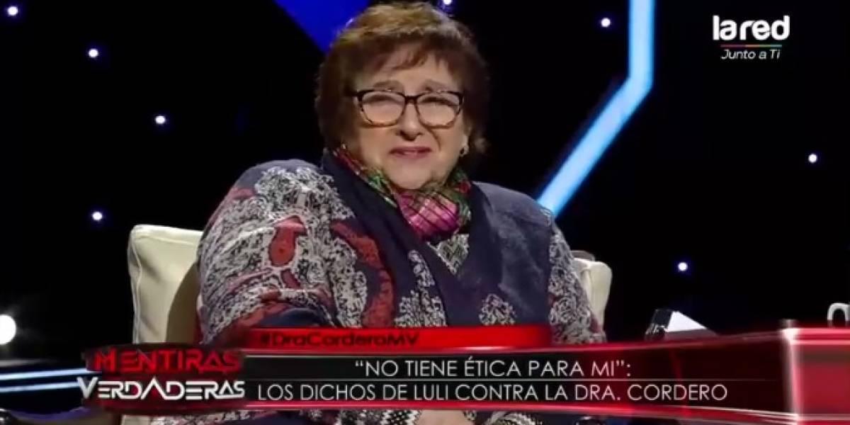"""Doctora Cordero arremete contra """"Luli"""": """"Ella no ha terminado su enseñanza media"""""""