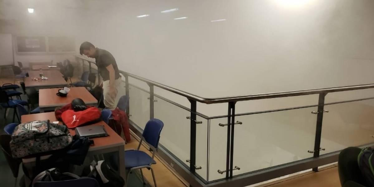 ¡ATENCIÓN! Evacúan la universidad de los Andes por incendio en laboratorio de química