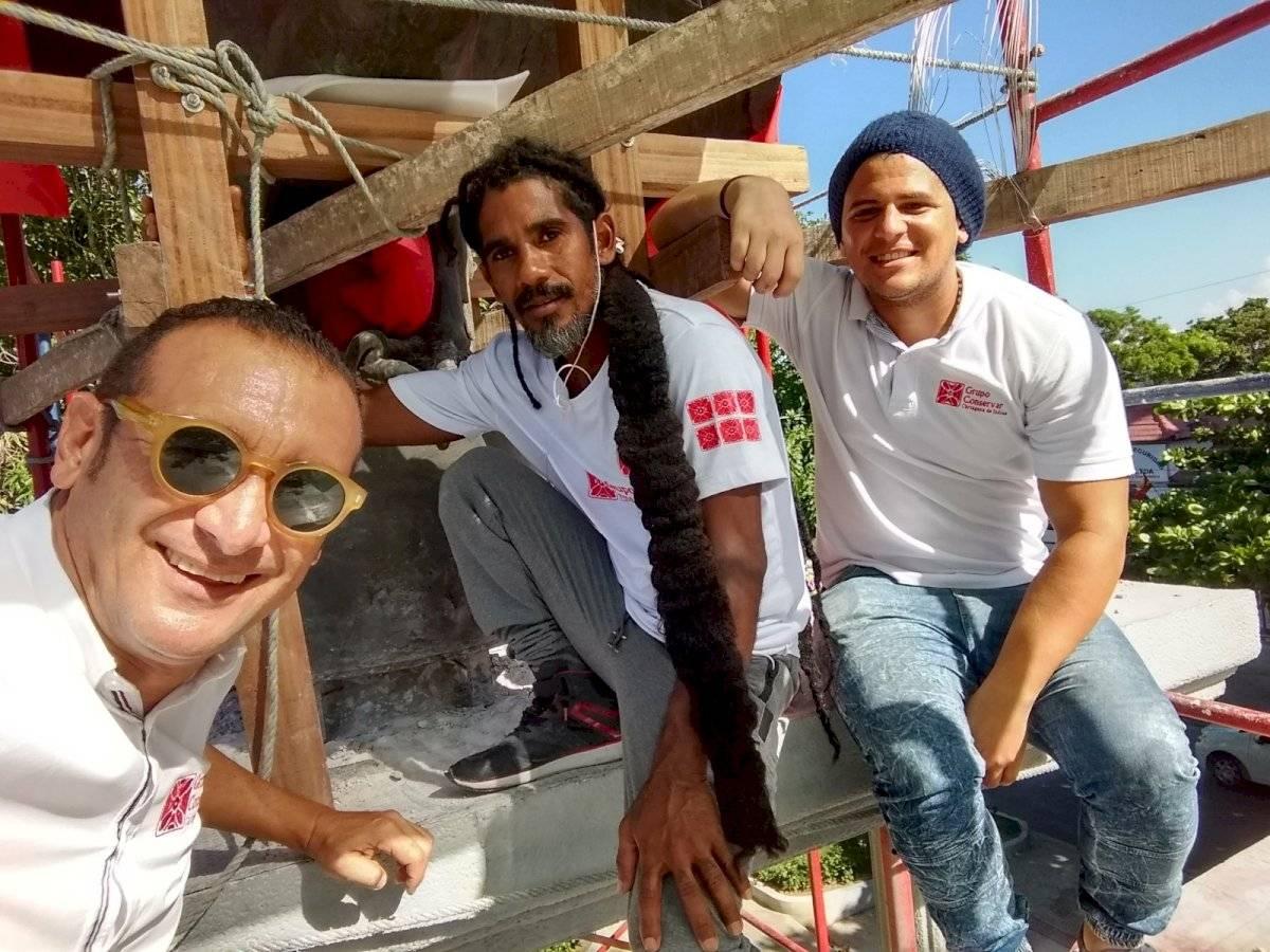 Salim Osta y su equipo de trabajo del Grupo Conservar. Jairo Cassiani
