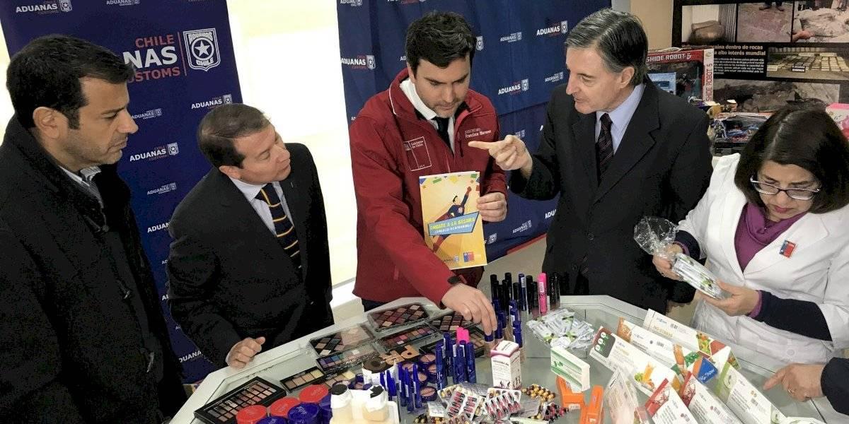 """Más de 6 millones de productos fueron incautados por el Servicio Nacional de Aduanas por ser """"falsificados"""""""