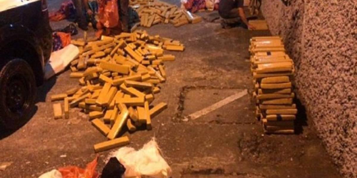 Polícia apreende mais de uma tonelada de maconha escondida em carga de milho