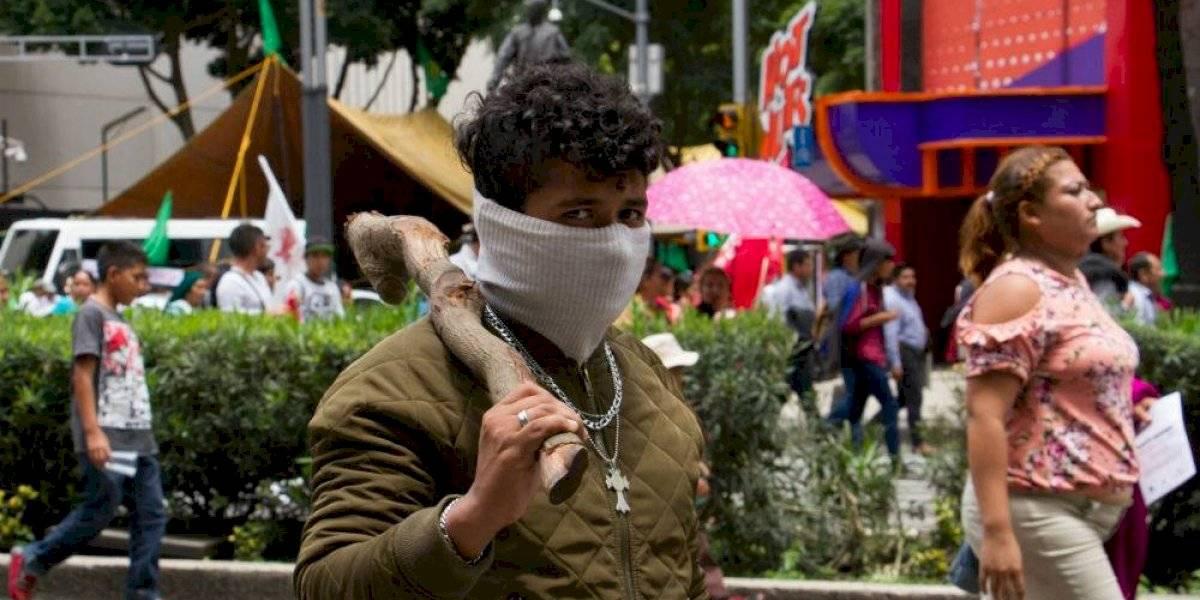 Campesinos se instalan en el Senado; piden diálogo con AMLO