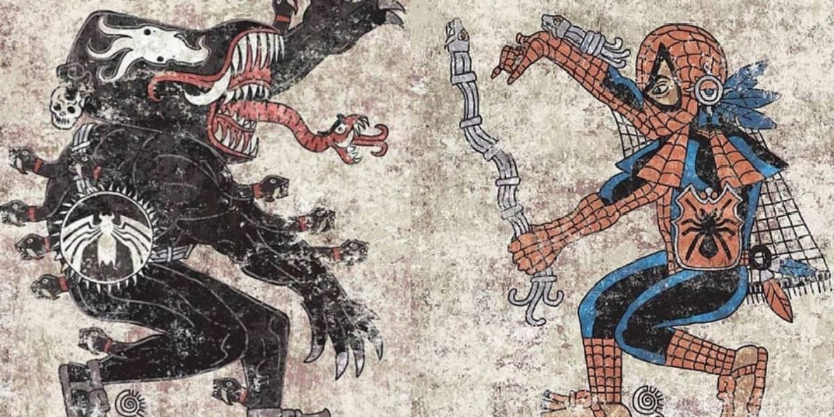 Así lucen los héroes de Marvel y DC como guerreros aztecas