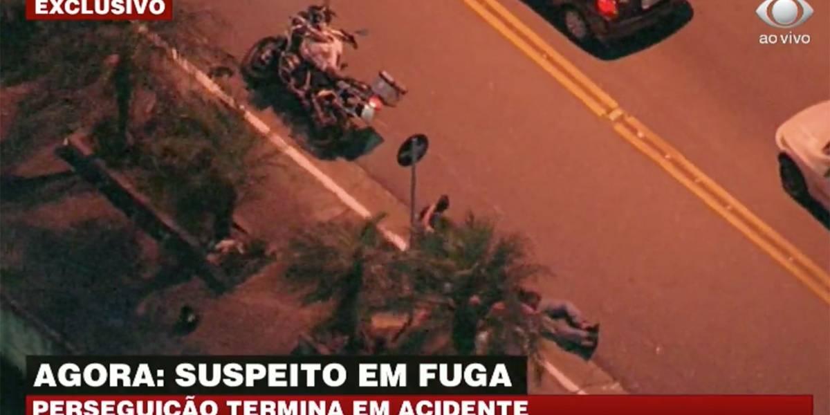 Perseguição a ladrão de motos termina em acidente