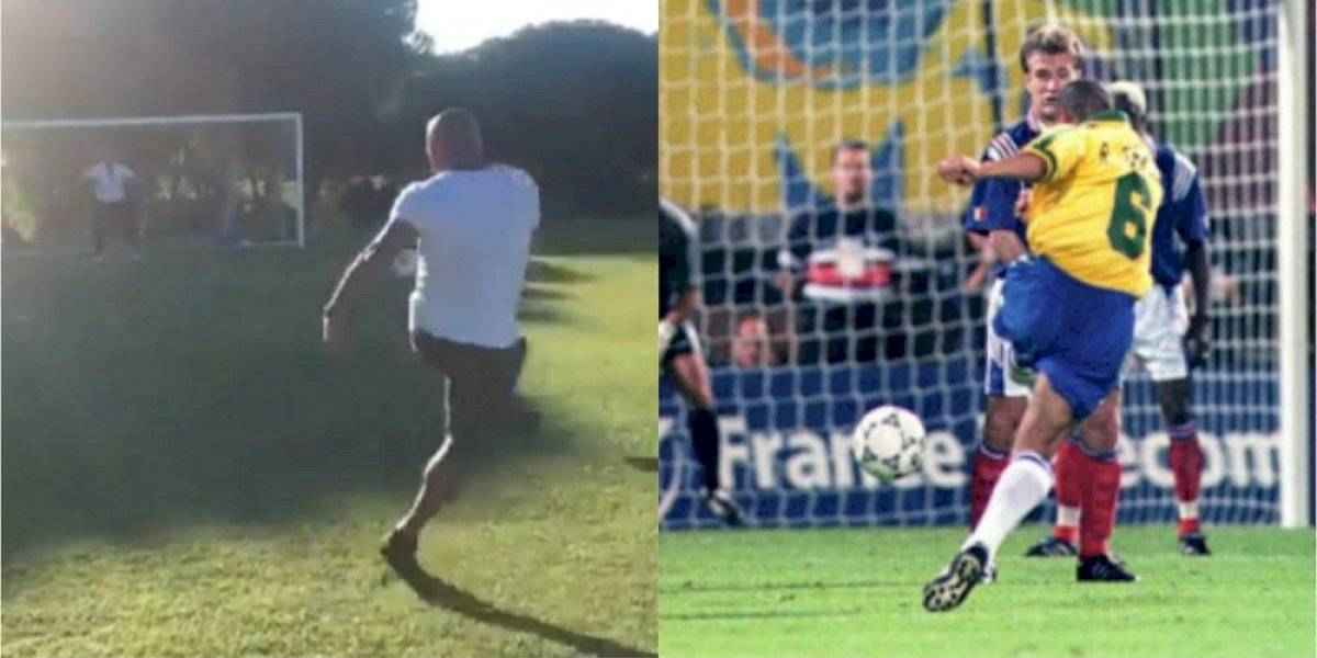 ¡Impresionante! Roberto Carlos repite su 'gol imposible'