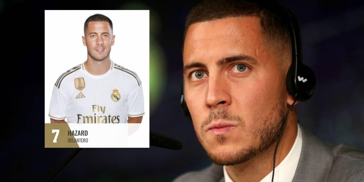 ¡El heredero! Real Madrid otorga el dorsal '7' a Eden Hazard