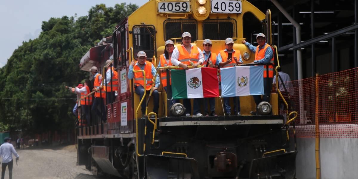 VIDEO. Realizan pruebas operativas del tren de carga que funcionará entre Guatemala y México