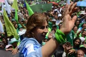 Sandra Torres cierra la campaña para la segunda vuelta electoral.