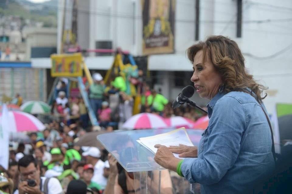 Sandra Torres cierra la campaña para la segunda vuelta electoral. Foto: Omar Solís