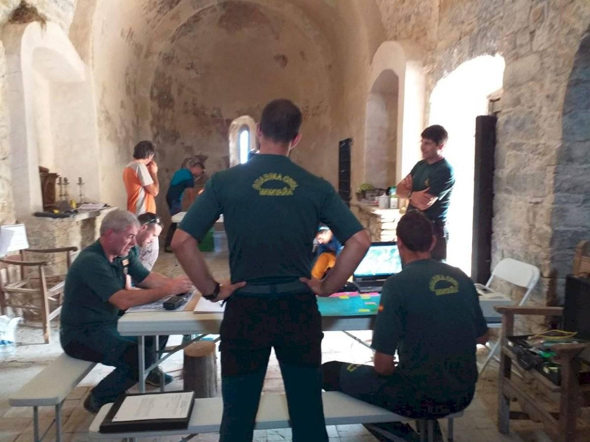 Operativo de rescate por parte de la Guardia Civil