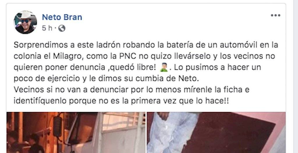 El alcalde de Mixco, Neto Bran, incita a la violencia. Foto: Facebook