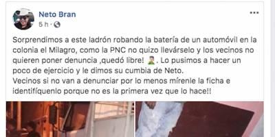 El alcalde de Mixco, Neto Bran, incita a la violencia.