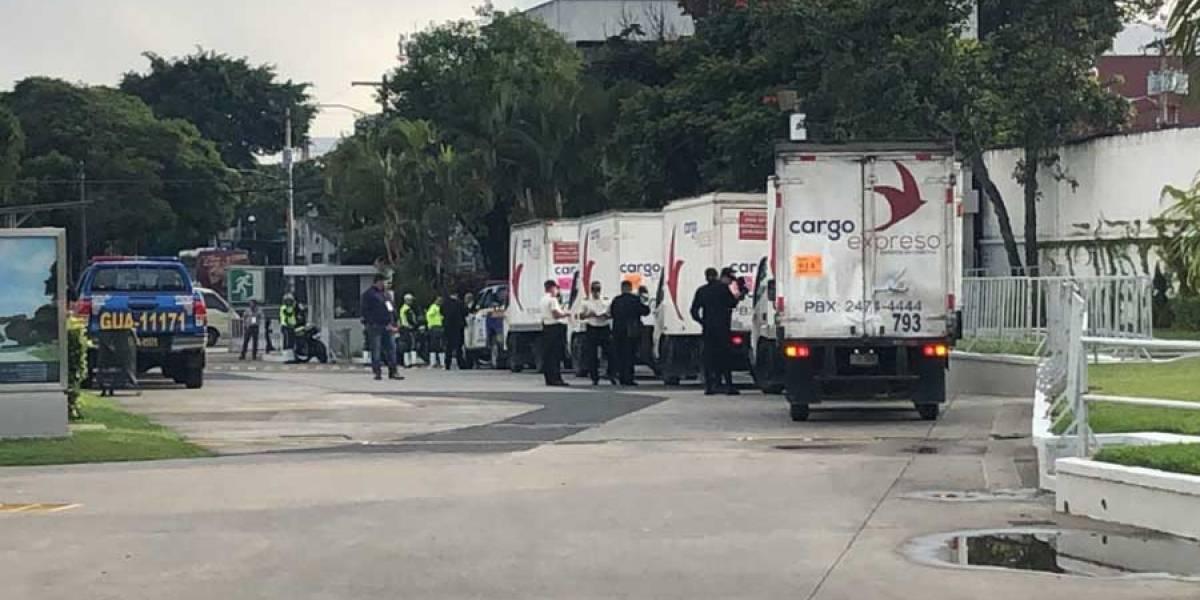 Primer convoy con cajas electorales sale a centros del Distrito Central