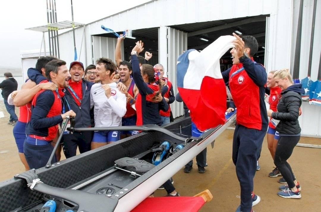El remo dejó cuatro oros para el Team Chile