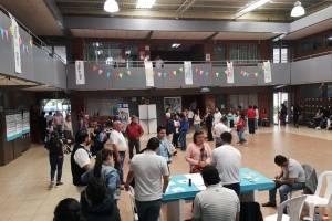 Deportistas votan en la segunda vuelta electoral