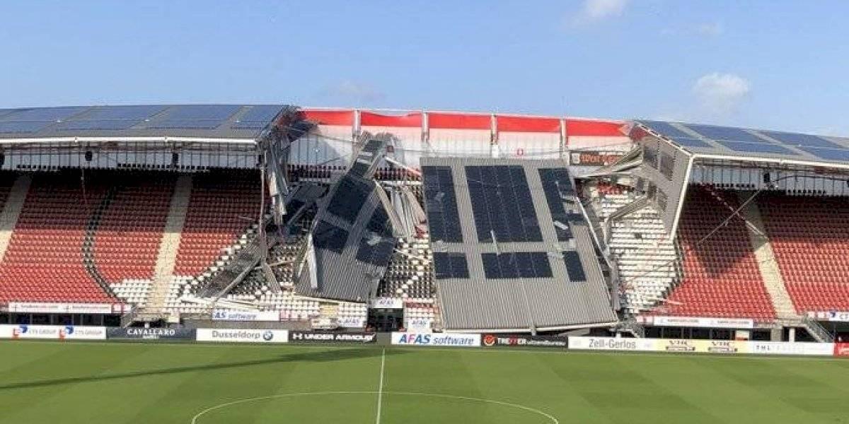 Acusan al AZ Alkmaar de usar materiales económicos en techo de su estadio