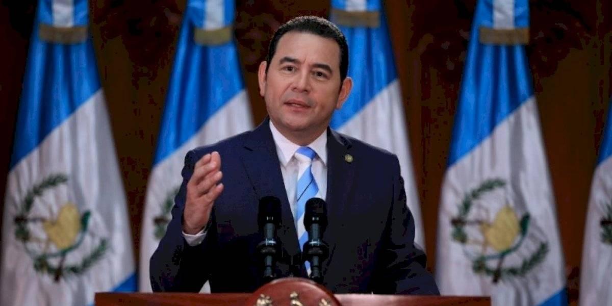 Presidente Jimmy Morales felicita al binomio de Vamos y envía mensaje