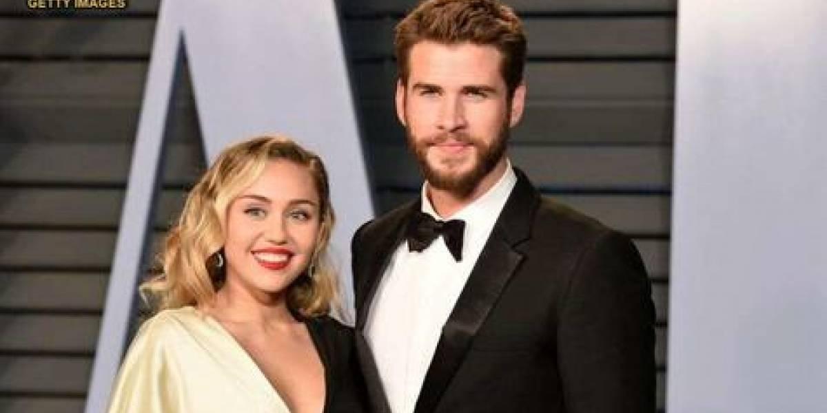 Miley Cyrus y Liam Hemsworth separados un año después de casarse