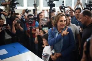 candidata Sandra Torres vota en segunda vuelta