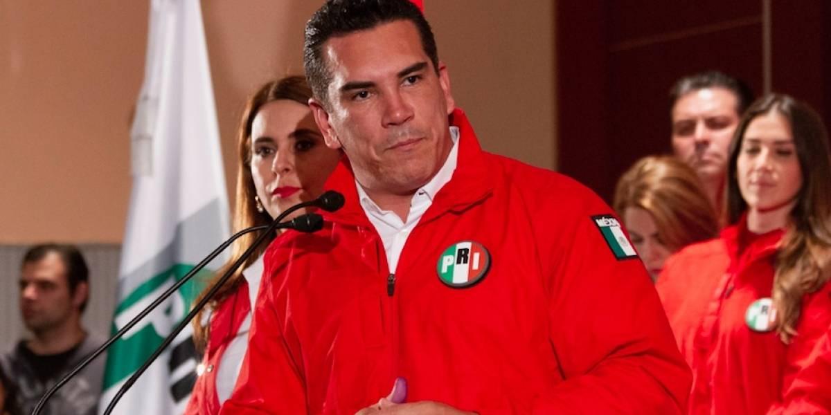 Alejandro Moreno se declara ganador de la elección para dirigencia nacional del PRI