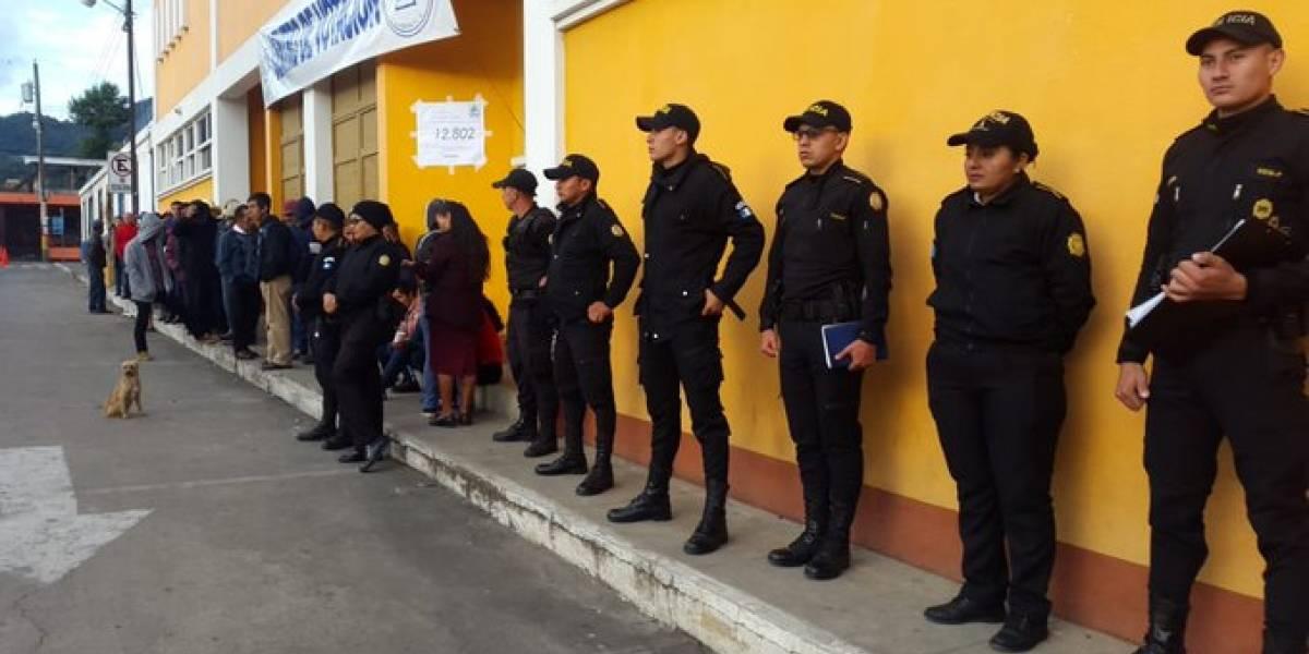 Dañan mesas de votación durante disturbios en La Blanca, San Marcos