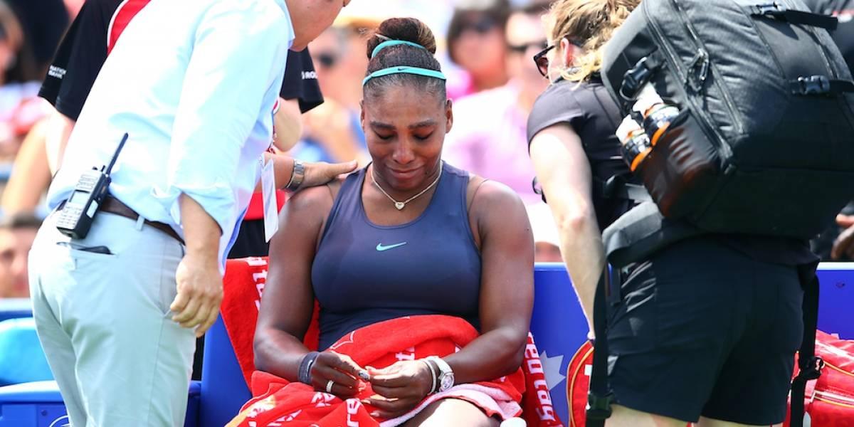 Serena se retira de la final de la Rogers Cup por lesión y rompe en llanto