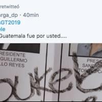Nayib Bukele compartió el tweet en el cual se indica que se votó por él para presidente de Guatemala.