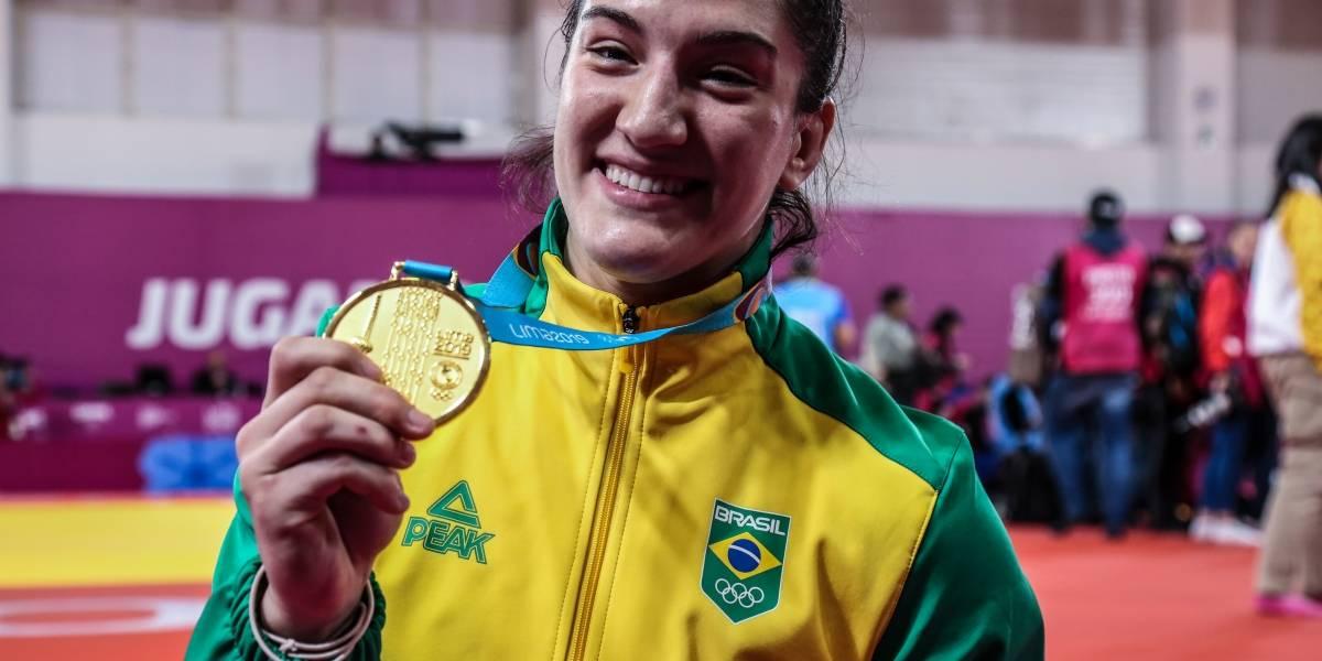 """Pan-Americano: """"Melhor momento da minha carreira"""", diz Mayra Aguiar, ouro no judô"""