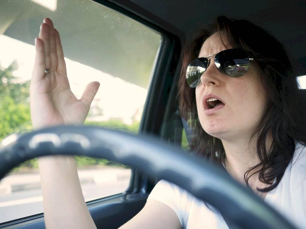 Actitudes de un mal conductor