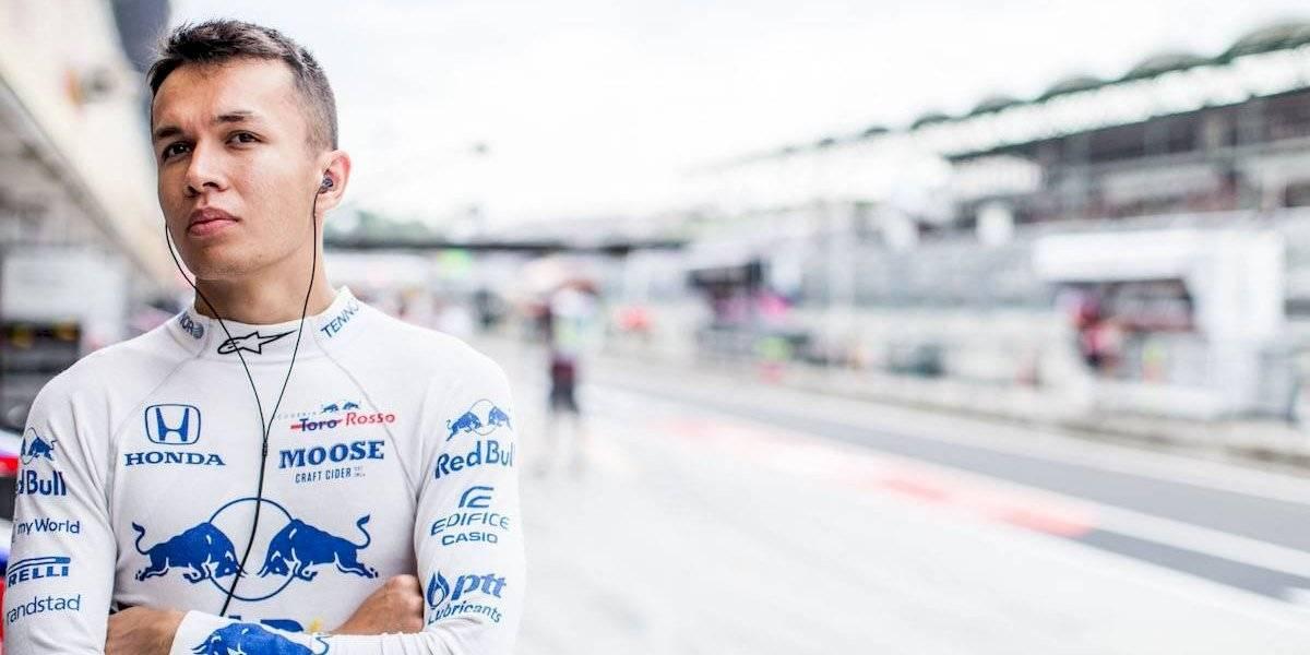 Alexander Albon será el nuevo compañero de Verstappen en lo que resta de la temporada