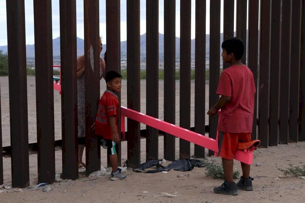Balancines en la frontera México-Estados Unidos