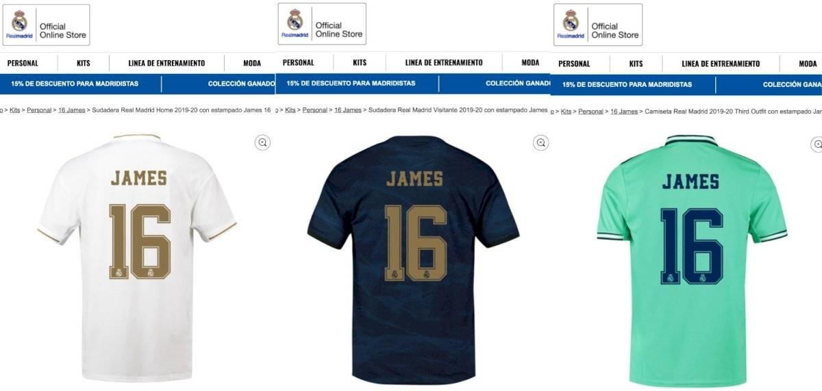 Camisetas James Rodríguez Real Madrid 2019-20