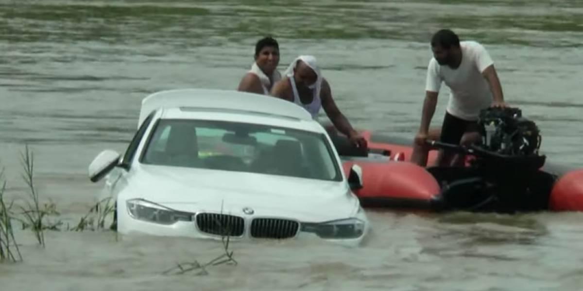 Cualquiera se enoja por algo así: tiró al agua el BMW que le regalaron sus padres por su cumpleaños porque quería un Jaguar
