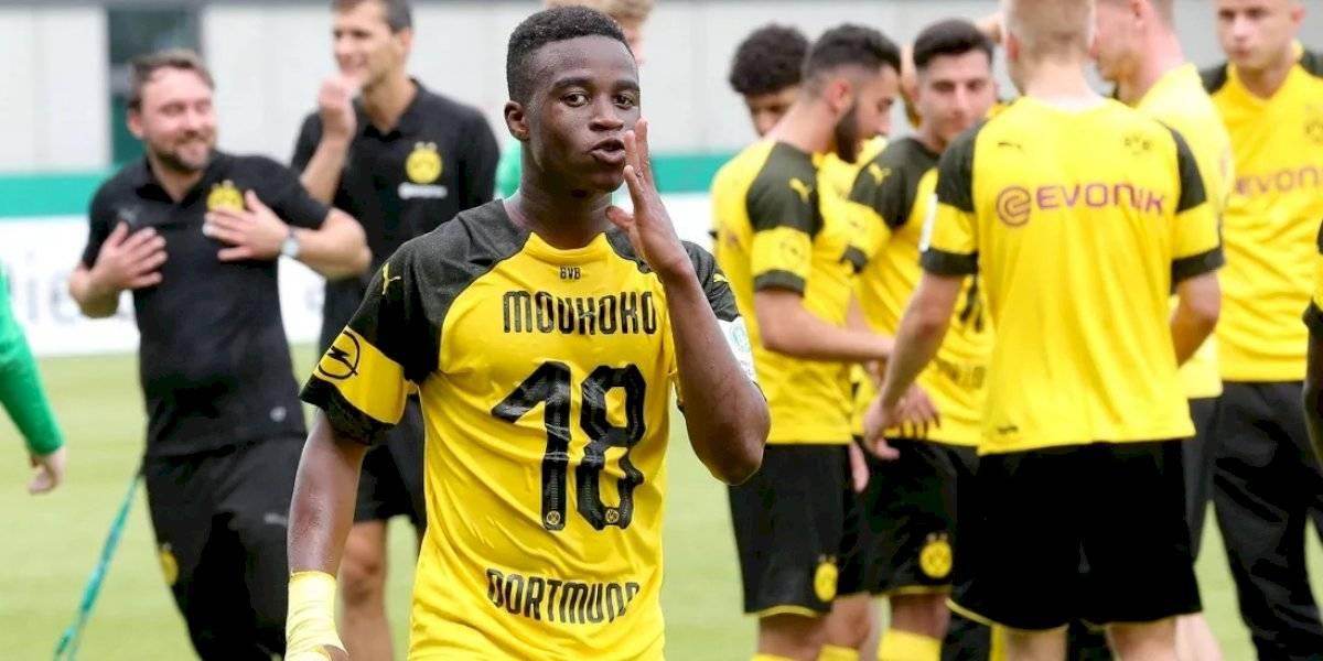 Youssoufa Moukoko: la perla del fútbol alemán de 14 años que marcó seis goles en su debut en la Sub 19 del Dortmund