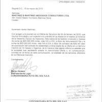 propuesta de NHM y Respuesta de Ruta del Sol