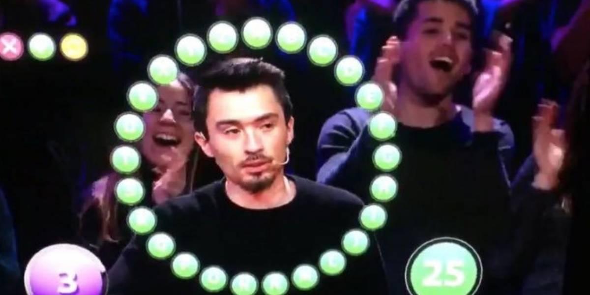 """Nico Gavilán logró ganar el esquivo """"Rosco"""": filtran video de la victoria de competidor de """"Pasapalabra"""""""