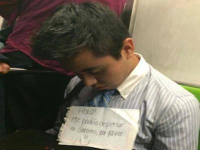 Metro CDMX dormido