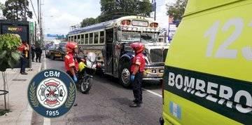 piloto de bus atacado en calzada Roosevelt