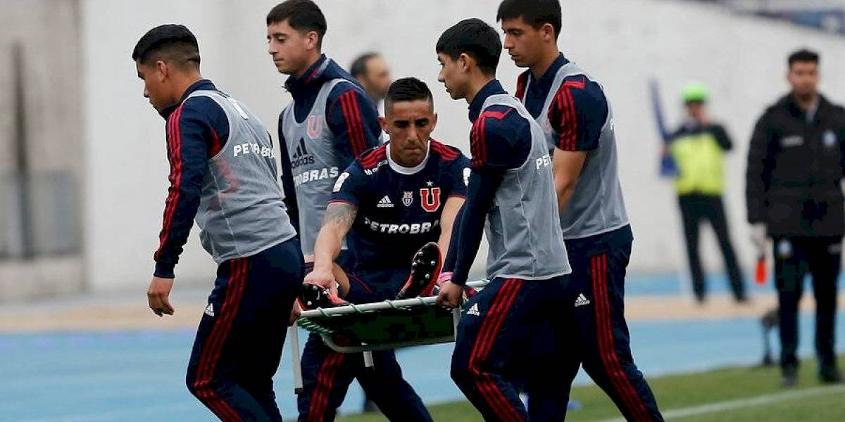 El desgarro de Osvaldo González complica a la U: No jugará ante Unión La Calera y se perdería el clásico ante la UC