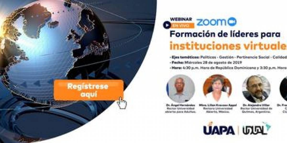 """UAPA y UDUAL de México realizarán webinar """"Formación de líderes"""" el miércoles 28"""