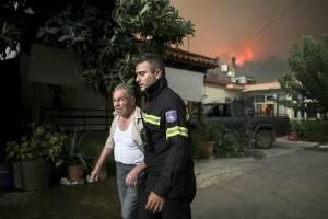 Incendios forestales cerca de Atenas, Grecia