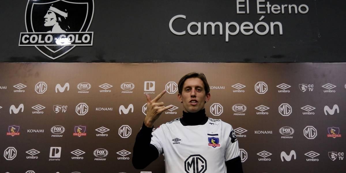 """Comparado con Ponzio y """"cortado"""" por Gallardo: El nuevo refuerzo de Colo Colo también sufrió el rigor de un Superclásico ante Boca"""