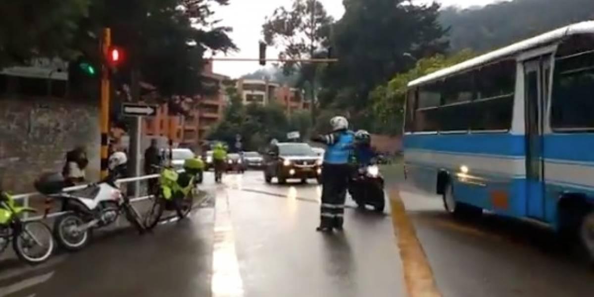 Por inauguración de puente se generó trancón de hora y media, en Bogotá