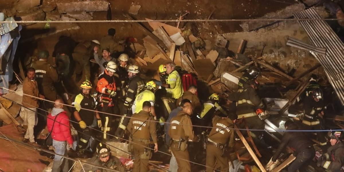 Carabineros de Chile confirmó 4 fallecidos tras derrumbe de una casa en Valparaíso