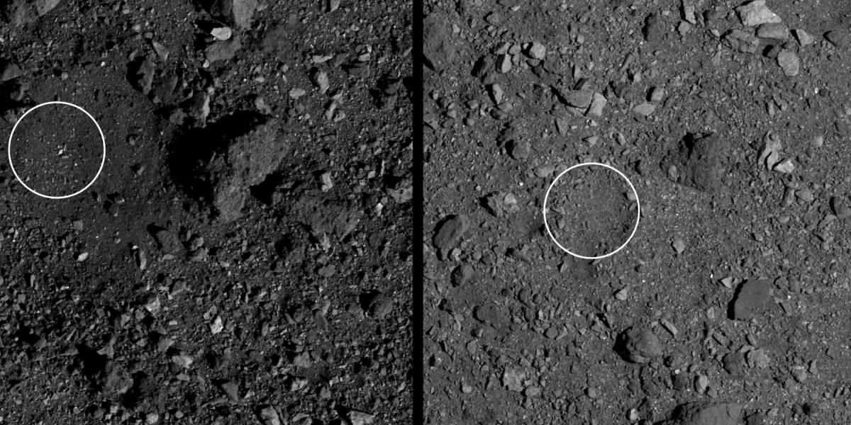 Missão da NASA seleciona possíveis locais para pouso no gigantesco asteroide Bennu
