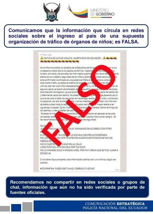 Comunicación de la Policía del Ecuador